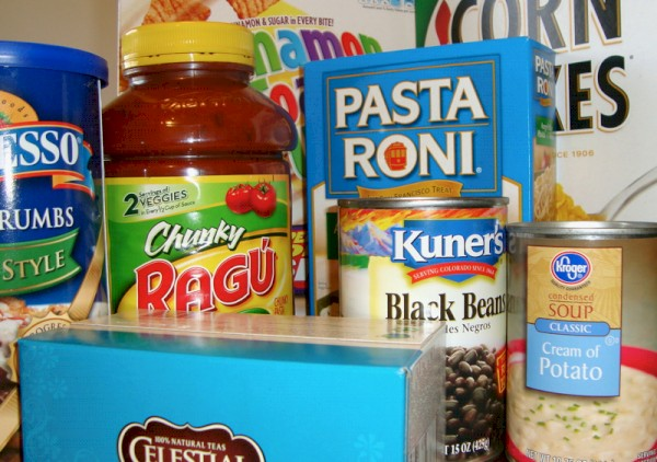Donate food items to the boulder county food share during the